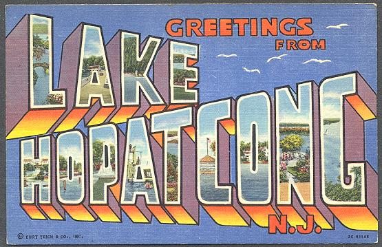 Lake Hopatcong Postcard