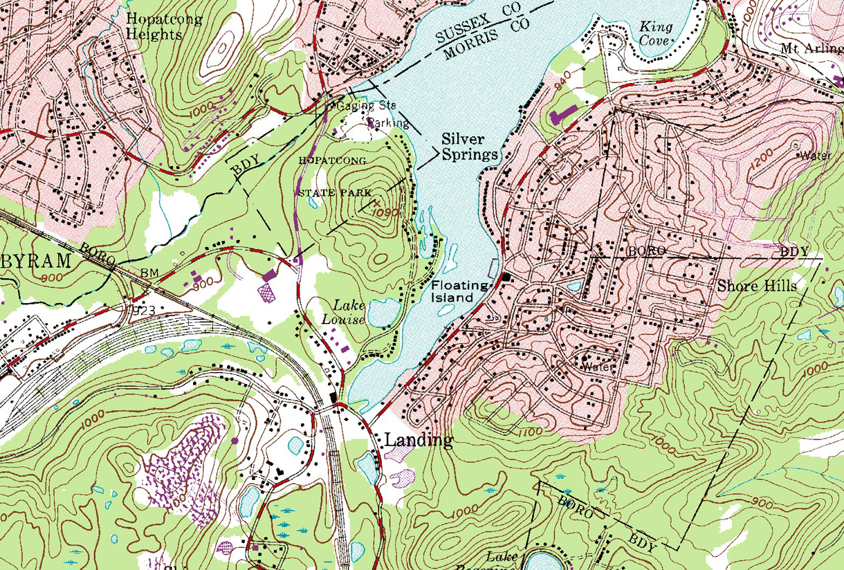 Us Topographical Map Of Landing Last Updated 1981