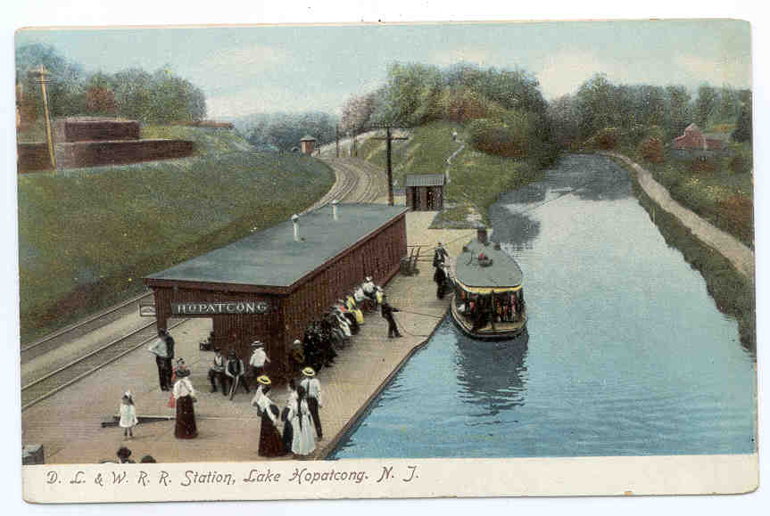 Morris Canal and Lackawanna RR at Landing, New Jersey