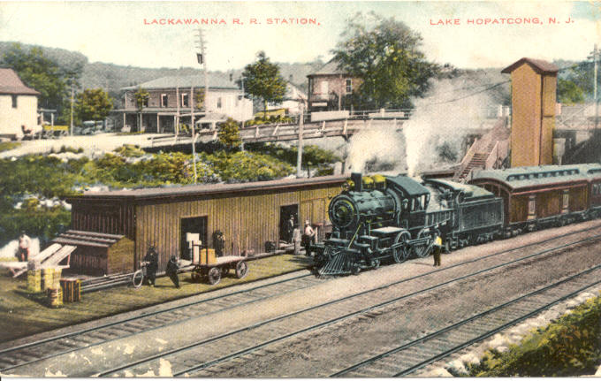 Lake Hopatcong Railway Station at Landing, NJ