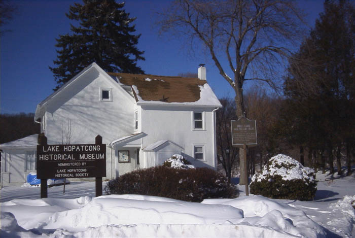 Lake Hopatcong Historical Museum in Winter